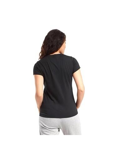 Reebok Kadın Siyah Te Graphic Tee-Stack Logo Tişört FU2207 Siyah
